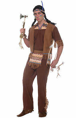 Brave Tribal Native American Indian Warrior Adult Costume