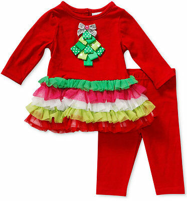 Sweet Heart Rose Baby Girls' 2-Piece Holiday Tunic & Leggings Set,Size 6-9 M,$48