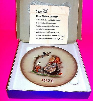 MJ Hummel Annual Collector Plate 1978  Hand Painted Western Germany GOEBEL