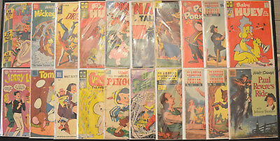 (20-Book) Vintage Gold & Silver Age Comic Book LOT (Dell, Gold Key, Harvey PLUS)