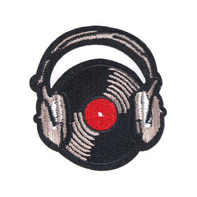 record music patch sew on embroidered applique fabric patch for clothesstickersL