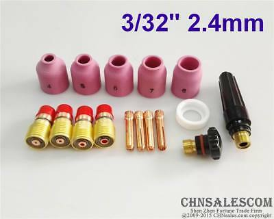 49Pcs tig welding torch stubby gas lens glass cup kit for wp-17//18//26 S6/_TEYJUS*