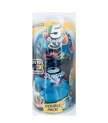 """New Zuru 5 Surprise """"2 pack for Boys""""  5 toys to UNBOX in Every Capsule *SEALED*"""