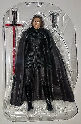 "Star Wars Black Series Wave 12 LAST JEDI KYLO REN Loose 6"" Figure Hasbro 2017"