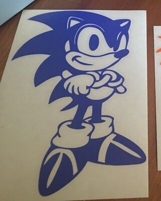 Sonic The Hedgehog Full Body Vinyl Car Window And Laptop Decal Sticker 2 90 Picclick