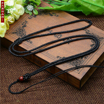 5Pcs Natural wood beads Black Circle string cord rope for pendant Necklace B209