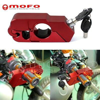 CNC Anti-Theft Motorcycle Grip Security Brake Lever& Throttle Lock Universal Red