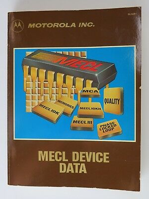 1983 Motorola MECL Device Data Book Manual DL122 Rev 1 Good Used Condition