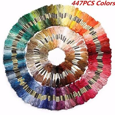 447 Colors Cross Stitch Embroidery Thread Pattern Kit Chart Floss Sewing Skeins