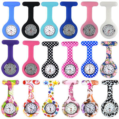 Rubber Nurse Watch Fob Medical Nurses Doctor Watch Brooch Clip Quartz & Battery