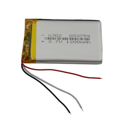 3.7V 1200 mAh 3 wires thermistor Polymer Li ion battery 053759 for Tablet PC GPS