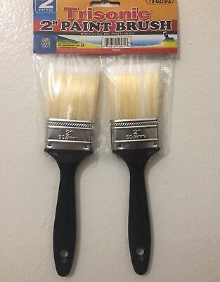 "Art Supply 2"" Chip Brushes Paint Glue Touchups 2Inch 1Pair 50.88mm Soft Brus"