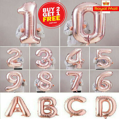 """40"""" Giant Foil Number Rose Gold Helium Large Baloon Birthday Party Wedding decor"""