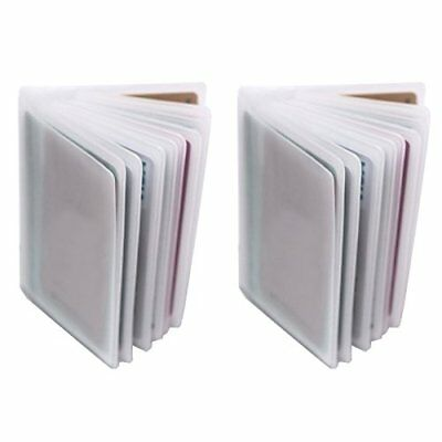Set of 2 - 10 Page Plastic Card Wallet Insert For Bifold Trifold 20 Slots Holder