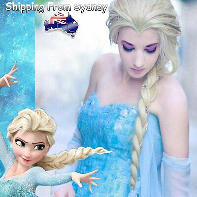 Frozen Elsa Wig Party Cartoon Costume Princess Ice Queen Wig Accessories Cosplay