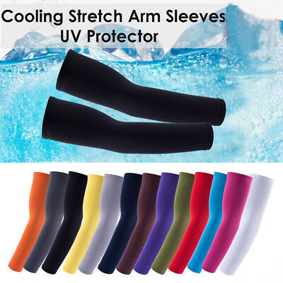 Cooling Cycling Golf Basketball UV Sun Protection Athletic Arm Sleeves Cover