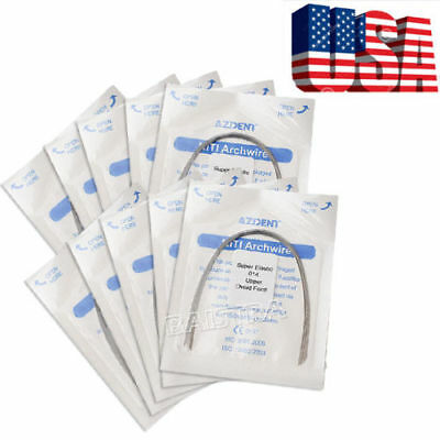 US 300 Packs Orthodontic Dental Super Elastic Niti Round Arch Wire 014 Upper TOP