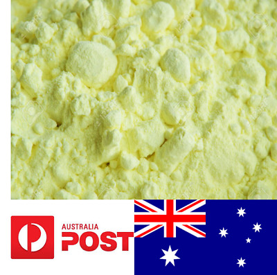 Pure sulfur powder Sulphur soap making rubber curative Aussie seller