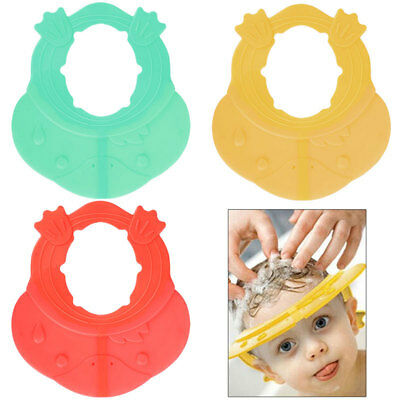 Baby Toddler Adjustable Shower Hats Shampoo Bathing Bath eye Protect Soft Cap