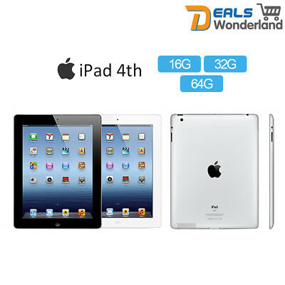 New Apple iPad 4th 16/32/64GB (Wifi Only) Retina PC Tablet in Sealed Box
