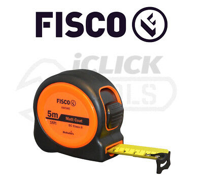 Fisco FSCAW5MEHV AW5ME Hi-Vis A1 Plus Tape 5m/16ft (Width 25mm) AW50126133 New
