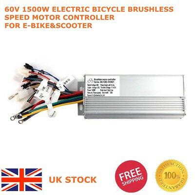 Electric Bicycle Brushless Speed Motor Controller 60V 1500W  for E-bike&Scooter