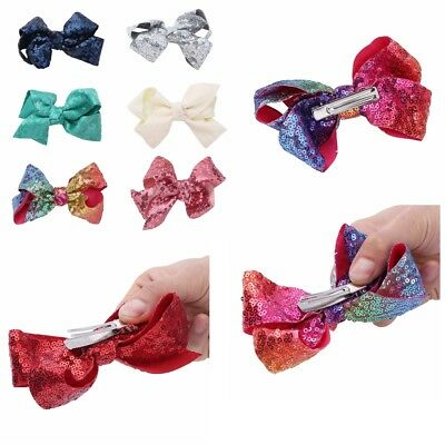 6Pcs Baby Girl Kids Children Barrettes Bow Snap Hair Clips Accessories Gift