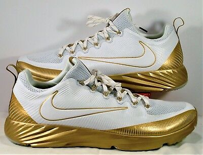 Nike Vapor Speed Turf LAX Gold White Football Trainer Shoes Sz 15 NEW 833408 711