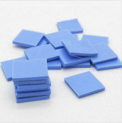 100mm x 100mm x 2mm Thick Blue GPU VGA CPU Cool Thermal Conductive Silicone Pad