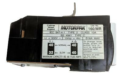Crabtree 160/MR 'Motorpak' Overload Relay 11-16A DOL / 19-28A SD