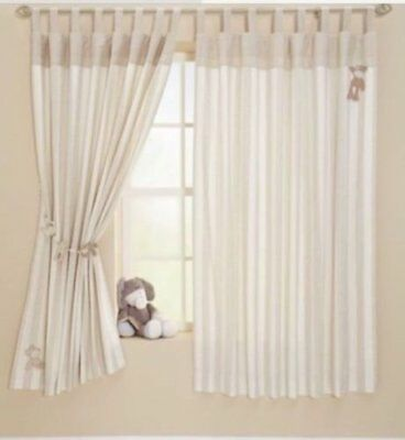 "MAMAS AND PAPAS lined NURSERY CURTAINS tab top 69x50"" ONCE UPON A TIME euc"
