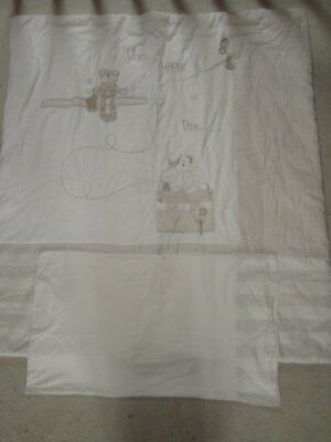 MAMAS AND PAPAS nursery cot cotbed QUILT & PILLOWCASE crumble ONCE UPON A TIME