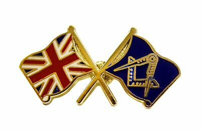 NEW Crossed flags Union Jack and SC&G  Masonic Lapel Pin LP01