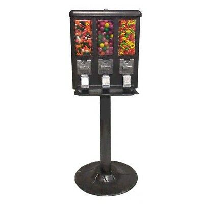 Triple Bulk Candy Vending Machine 3 Head Dispenser Metal Trivend - Free Shipping