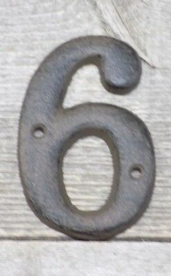 RUSTIC BROWN CAST Iron Metal House Numbers Street Address Phone - Cheap metal house numbers