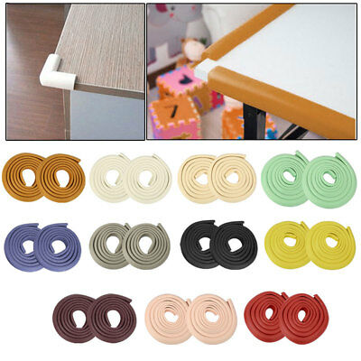 4M Edge+4 Corner Baby Child Soft wood/glass Table Safety Guard Protector cushion