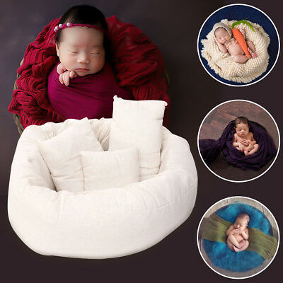 4Pcs Newborn Posing Pillow Baby Girl Boy Infant Cotton Photography Photo Prop