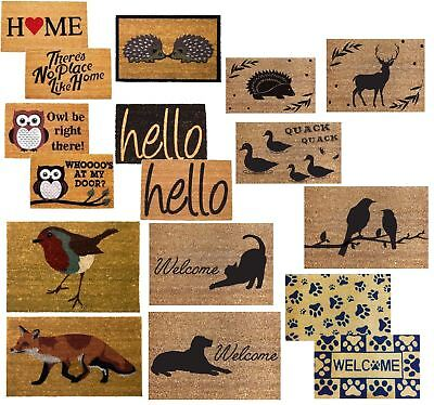 Non-Slip Doormat Floor Natural Different Style Door Mat Coir Indoor Outdoor New