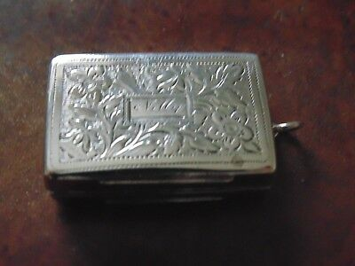 ANTIQUE 19thC SUPERB SOLID STERLING SILVERHAND CARVEDSNUFF BOX BIRM 1843-1844