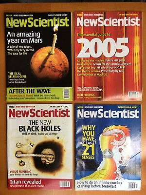 New Scientist Magazine No's: 2481-84 January 2005 (4 Issues)