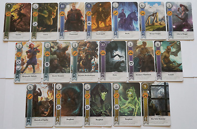 GWINT/GWENT style CARDS (18 ADD CARDS) Witcher 3 Wild Hunt (ENG EDITION)12TH EXP