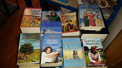 JOBLOT/WHOLESALE BOX JUST UNDER 10KG OF ROMANCE SAGA BOOKS HIGH QUALITY - Bundle