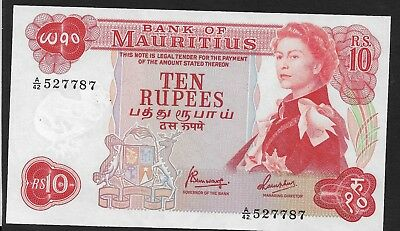 Mauritius 1967 Rs 10, Uncirculated