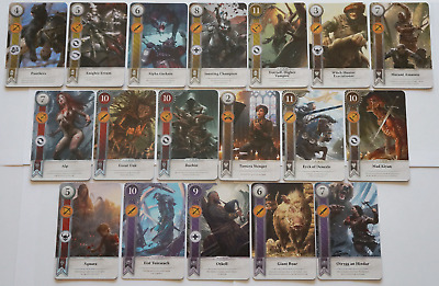 GWINT/GWENT style CARDS (18 ADD CARDS) Witcher 3 Wild Hunt (ENG EDITION)14TH EXP