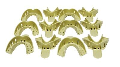 36 Pcs Dental Plastic Disposable Impression Trays Perforated Autoclavable LL #2
