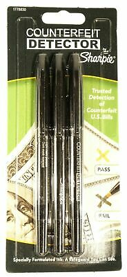New 1 Pack of 3 Sharpie Counterfeit Detector Pens Currency Marker 1778830