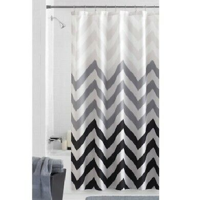 NEW MAINSTAYS FLUX Fabric Shower Curtain