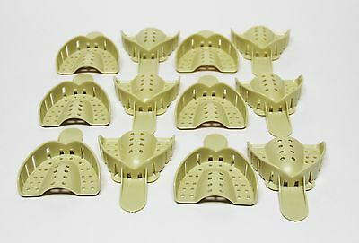 36 Pcs. Dental Plastic Disposable Impression Trays Perforated Autoclavable UM #3
