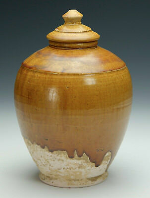 Asian Antiques Chinese TANG Dynasty Amber-Glazed Jar and Cover