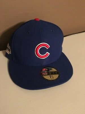 3f4b47a19d12bf Chicago Cubs New Era 59FIFTY 2016 World Series Champions Patch Cap Hat  Fitted
